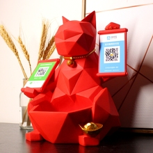 Lucky Cat Furnishing Shop Opens Gift Cashier Size and Size Furnishing Lucky Cat Creative Two-Dimensional Number Payment