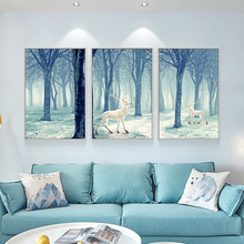 Modern Simple Atmospheric Triple Painting for Living Room Decoration