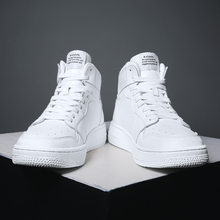 White high-heeled men's shoes AJ Air Force No.1 men's shoes ins overheated Shoes Boys Gao Bang shoes men's fashion shoes