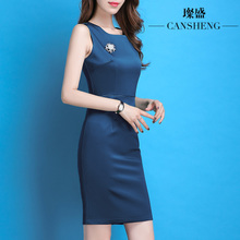 Dresses, Autumn Dresses, New Sweet Two-piece Dresses, Professional Dresses, Sleeveless, Body-Fitting vest, Bottom-Bottom Female Skirt
