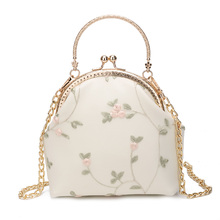 Handicraft Stereo Embroidery Flower Handbag with Cheongsam Bag Lady Bag