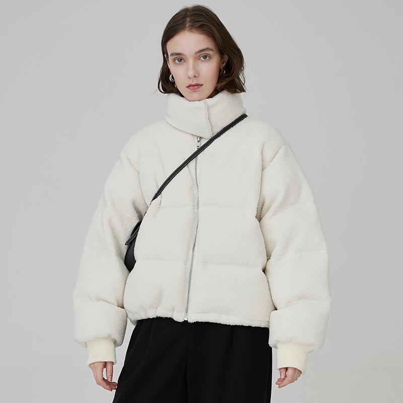 范洛 2020冬季新款摇粒绒立领面包服泰迪毛学生防风保暖短外套女