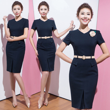 Short-sleeved Summer Dress and Beauty Salon Workwear Sales Building Temperament Real Estate Professional Suit