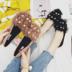 秋季新款毛毛平底鞋女学生百搭平跟单鞋韩版舒适软底瓢鞋豆豆鞋女