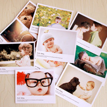 Music pin paper card LOMO card greeting card postcard blessing message mother and Child small card (baby Series) 10