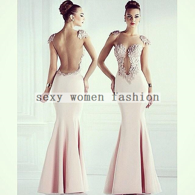 Купить Женское Платье Sexy Bandage Dress Ms0124 Hollow Backless Package Hip Fishtail Evening Prom Dress 2015