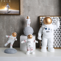 Nordic light luxury astronauts pose for a small healing system living room decoration childrens room astronauts set up models