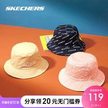 Skechers Sketch Winter New Mens and Womens Letter Printed Double-Sided Fishermans Hat Cap L319U066