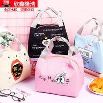 Creative cute insulation lunch box bag small plus thick aluminum foil waterproof with rice handbag Oxford Bra chain poop bag