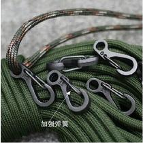 Metal mini buckle spring buckle fast parachute buckle key ring hook accessories outdoor tactical EDC equipment