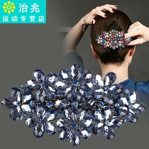 Large hairpin female back of the head plate headpiece Korean version of the elegant hair card water drill top clip spring clip horse tail clip hair trim