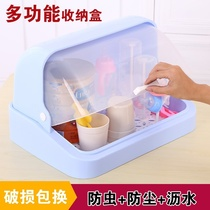 A kitchen placed tray with covered cup drain cup rack to collect the box of chopsticks dishes storage box home hanging.