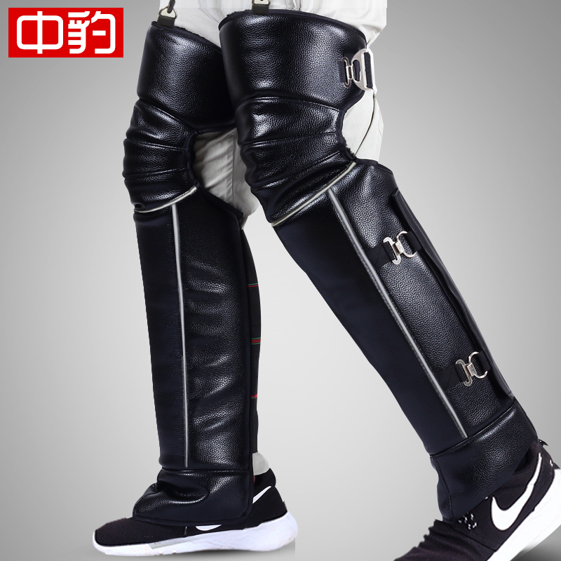 Motorcycle leggings electric car knee protection cold wind protection cycling warm and thick winter mens cycling equipment windshield women