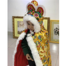 True rabbit hair tiger head cape cloud brocade pure hand-made tiger head cape winter thickened baby cape cape