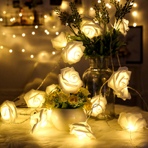 Teenage hearts colorful rose spout lights flashing lights string lights room decorative lights with the seven-night Spring Festival small color string.
