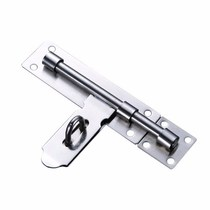 Stainless steel thickened door pin plus anti-theft door bolt clear-mounted padlock door latch wooden door latch latch old-fashioned