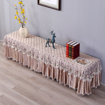 TV cabinet cover cloth lace dust cover rectangular living room long tablecloth simple shoe cabinet dust cover curtain.