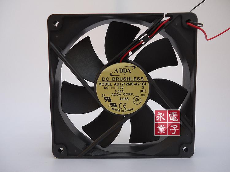 ADDA 12cm AD1212MS-A71GL 12V 0.34A 2Wire Case Fan