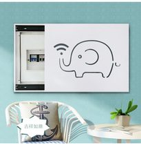 Decorative modern open edited wall creative shopping mall electric meter box hole plate block distribution box electric control box Jane European lift
