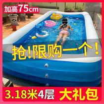 Swimming pool oversized outdoor large inflatable pool baby commercial set wear-resistant roof balcony dedicated big kids.