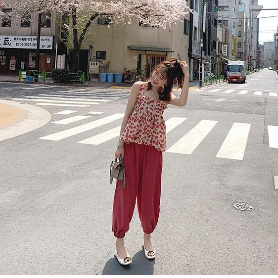 夏装2019新款网红小个子套装女俏皮闺蜜套装两件套洋...¥75.91