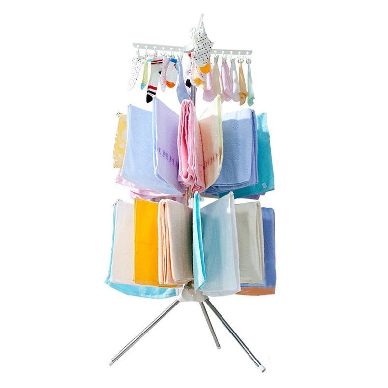 多层旋转式的折叠晾衣架