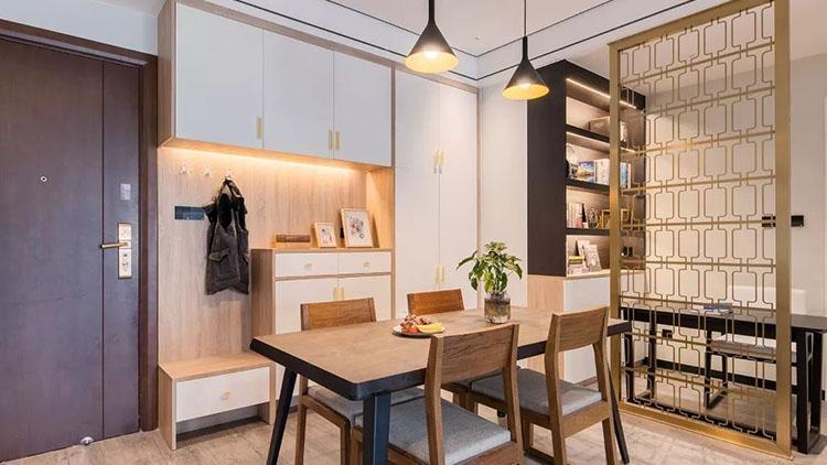 132平新房用屏风代替墙,挤出阅读区
