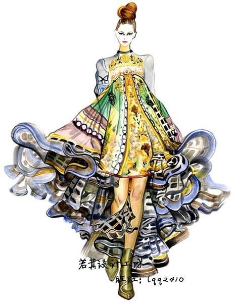 sc178 服裝設計手稿大全 服飾手繪原稿插畫 時裝效果圖素