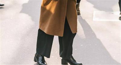 冬天穿上大衣+小黑裤,经典好穿还显瘦
