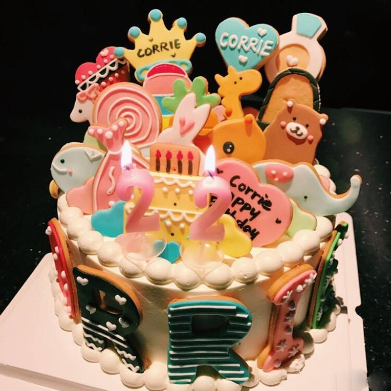 重庆生日蛋糕定制翻糖饼干装饰宝宝周岁满月百日宴水果夹层猫先森