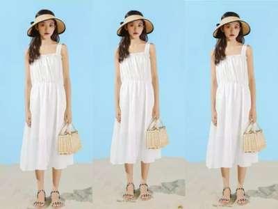 夏天穿衣怎么提升时髦度?连衣裙+凉鞋