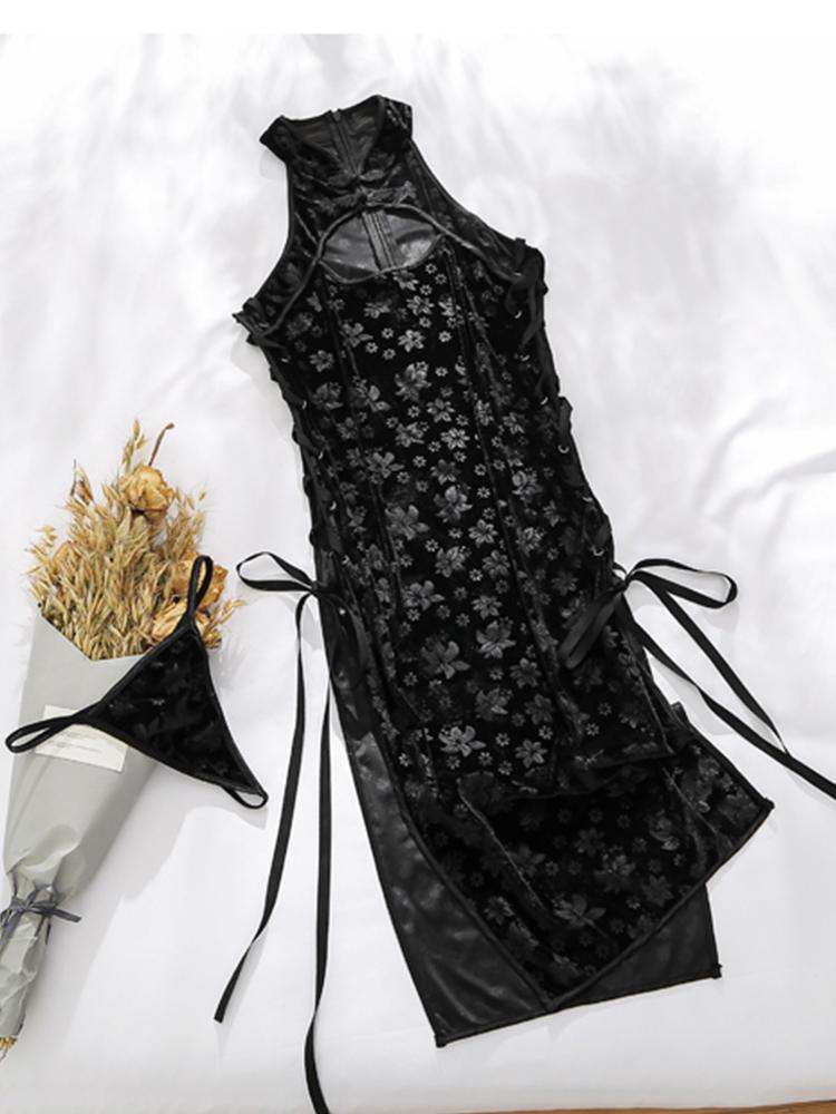 高开叉旗袍性感十足,修身版型显身材利器2