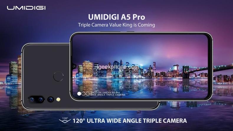 Umidigi A5 pro后置三摄超广角镜头将即将公布!