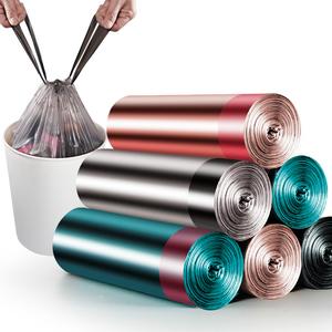 【独立抽绳】优云5卷100只手提厨房家用抽绳加厚自动收口垃圾袋