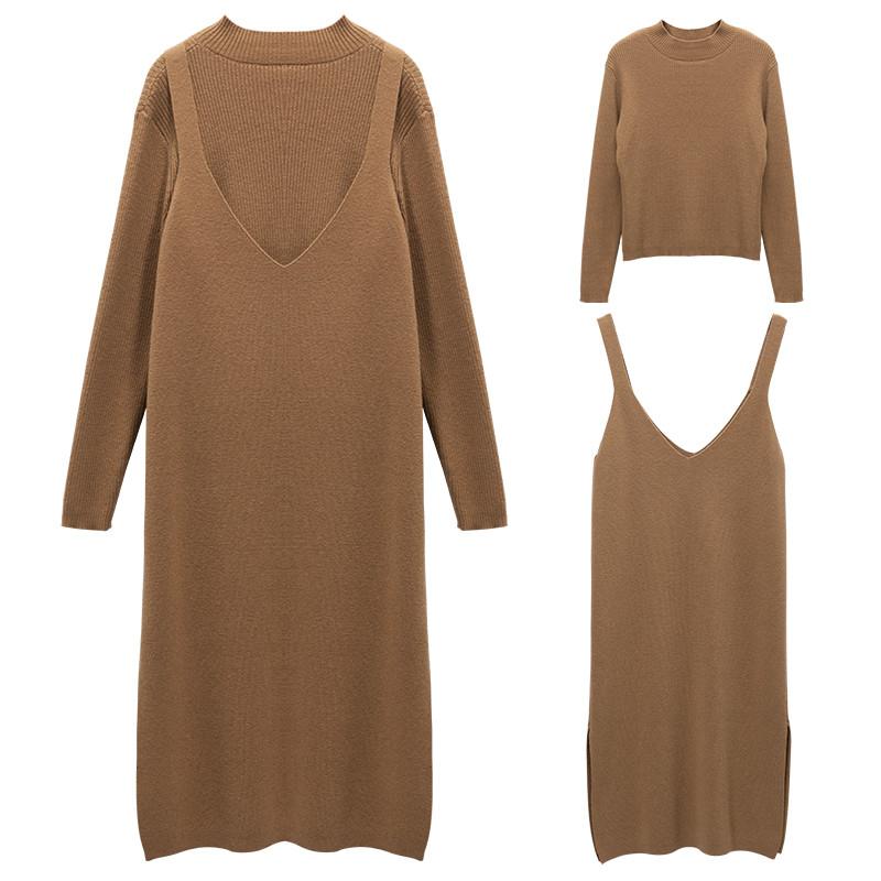 针织连衣裙,衬出曼妙好身段