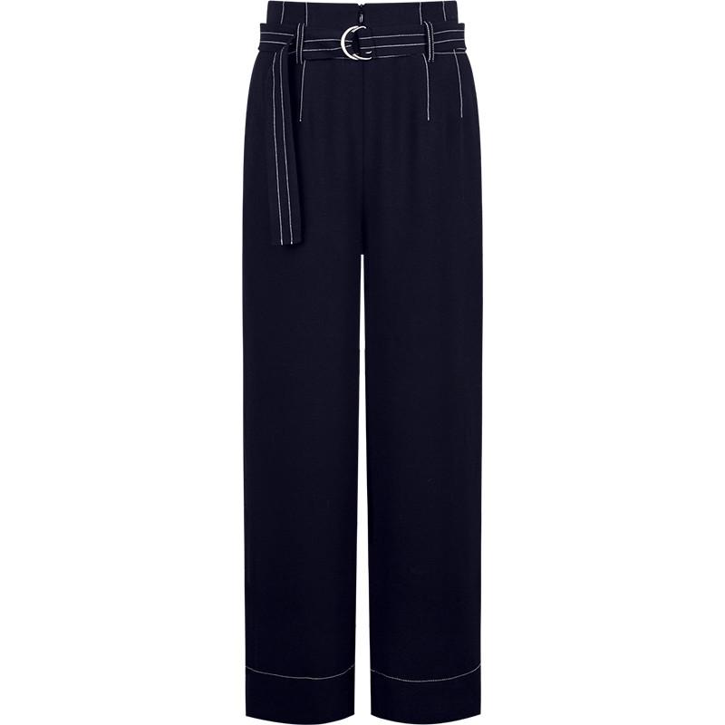 时尚摩登的绑带阔腿裤