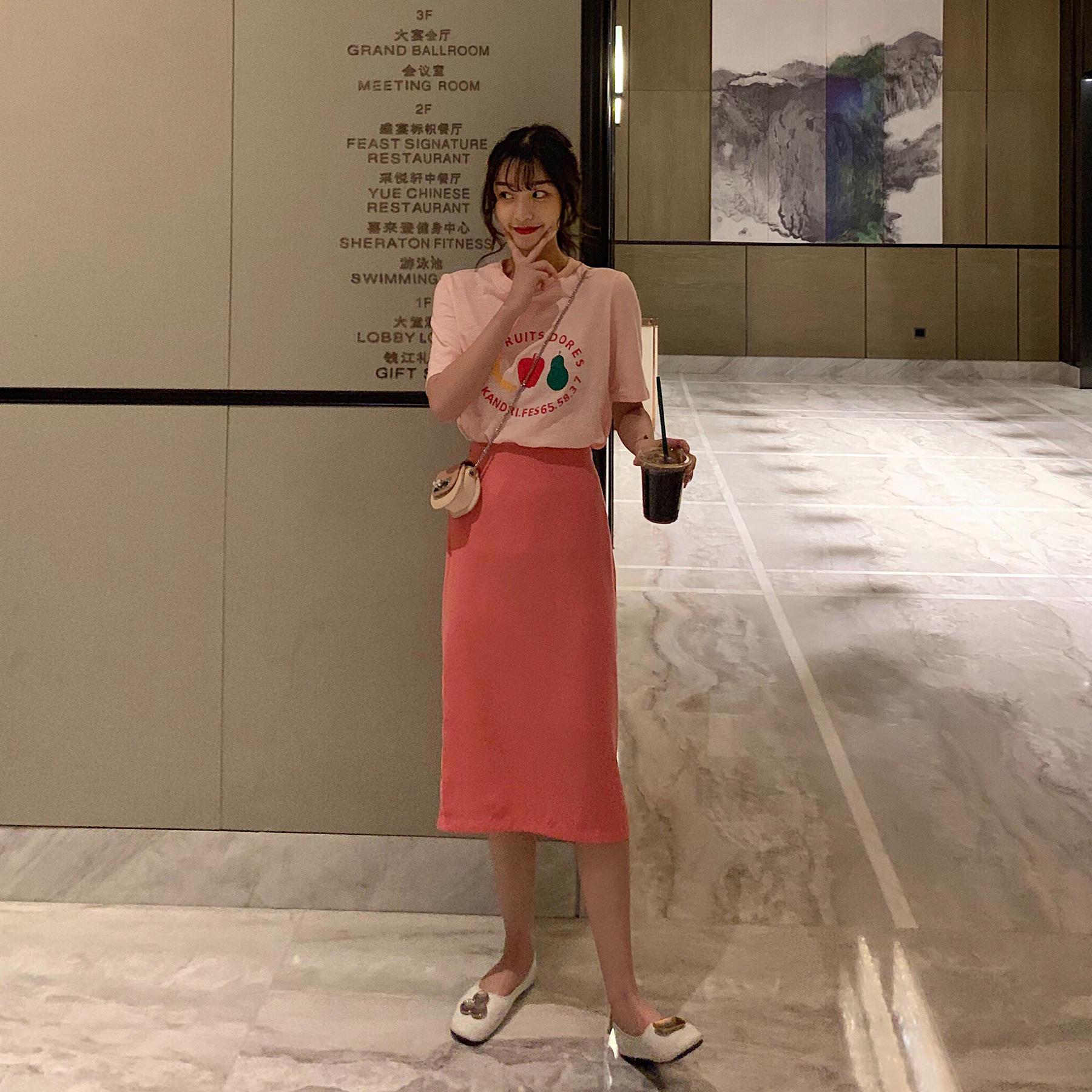 网红淑女套装2019新款夏季甜美风气质少女t恤裙子两...¥56.05