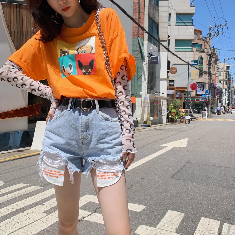 牛仔短裤女2019夏季新款女裤韩版高腰网红chic...¥89.9