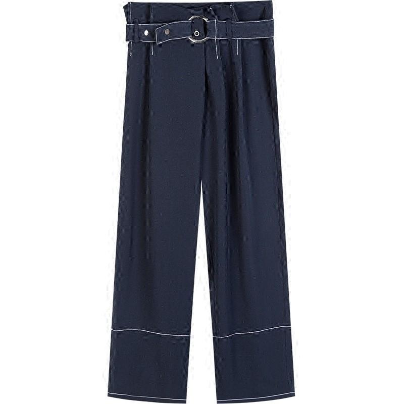 花苞高腰阔腿裤