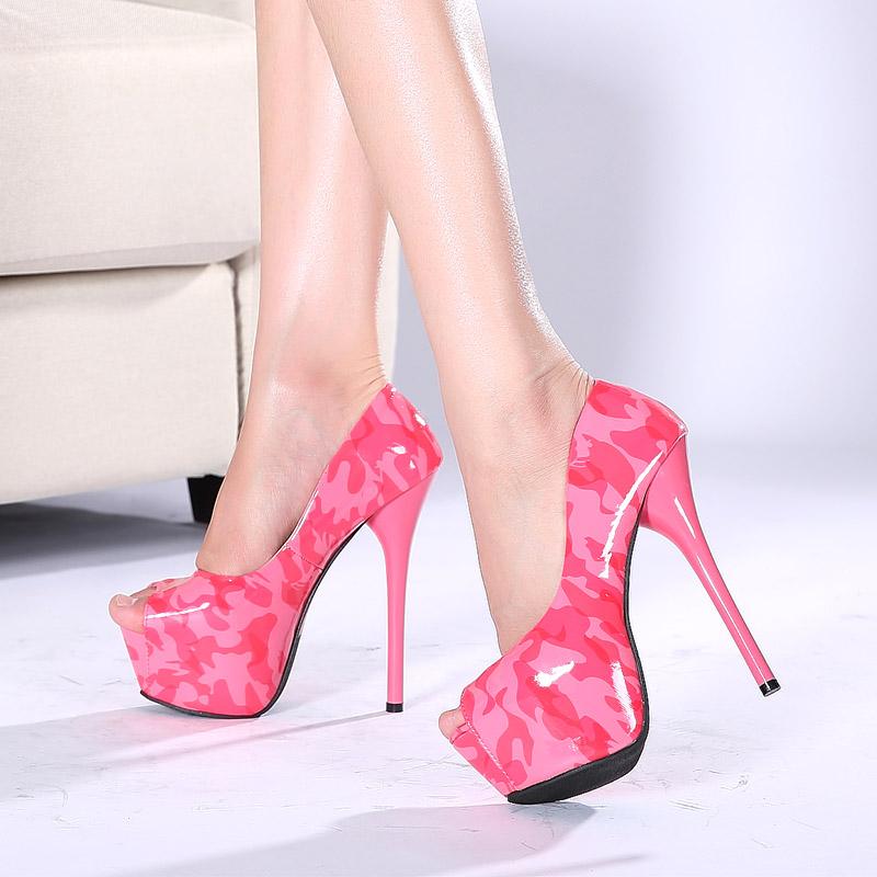 【女鞋】15cm超高跟魚嘴高跟鞋夜店涼鞋細根女鞋a9288【拍下25元】圖片
